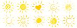 Fototapety drawn sun icons