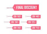 Final Discount % Off Labels