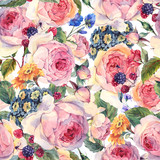 Classical vintage floral seamless pattern