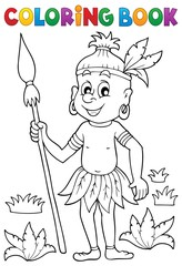 Coloring book Aborigine theme 1