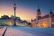 Warsaw. Image of Old Town Warsaw, Poland during sunset. - 113604536