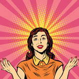 Fototapety Woman prayer joy religion