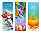 Natural Vegetables Vertical Banners