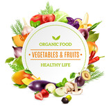 Natural Organic Food Background