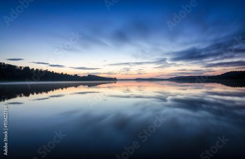 Midnight on Scandinavian lake