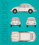 Retro Beetle car