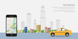 Fototapety taxi service concept