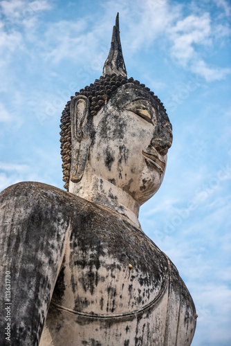 head of Buddha statue in Sukothai Poster