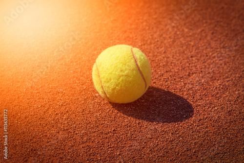 tennis ball macro Tableau sur Toile