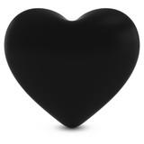 Black Mourning Heart Shape Isolated on White - 3D Illustration