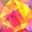 abstract background consisting of pink, yellow, orange  triangle