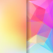 abstract background consisting of yellow, pink, blue triangles