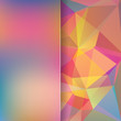 abstract background consisting of colorful triangles and matt glass