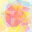 abstract background consisting of pink, yellow, orange triangles