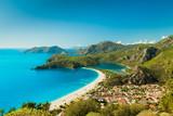 Fototapety Oludeniz lagoon in sea landscape view of beach