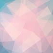 abstract background consisting of pink, blue, beige triangles