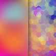 abstract background consisting of autumn-colored hexagons, vector