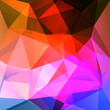 abstract background consisting of red, pink, purple, blue triangles
