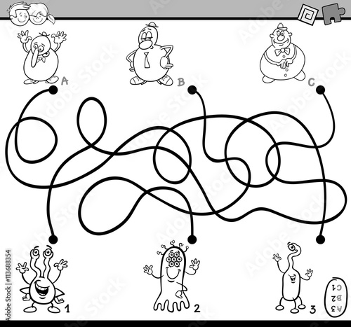 maze activity coloring book