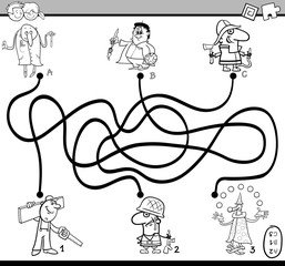 maze activity task coloring book