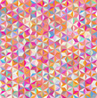 abstract background consisting of small pink, orange, white triangles