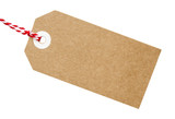 Gift Tag Brown Card With String - 113690545