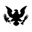 American eagle emblem isolated icon design