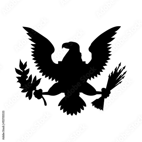 American Eagle Emblem Isolated Icon Design Buy Photos Ap Images