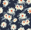 pretty daisy floral print ~ seamless background - 113705975