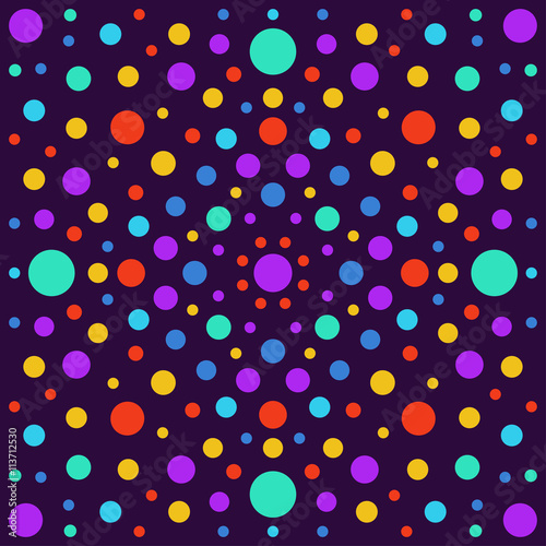 Fototapeta Abstract background with bright circles isolated on stylish cover