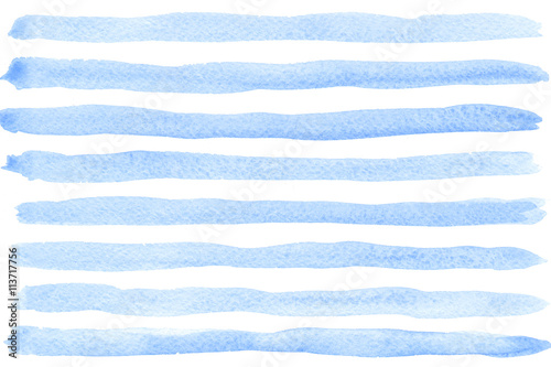 Blue watercolor striped background