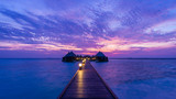 Overwater Bungalow. Ocean in the Maldives. Vacation in luxury hotel - 113720779