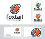 Foxtail vector logo with business card template