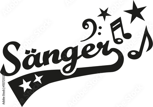 Singer german retro word