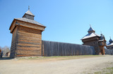 Irkutsk region, Russia - May,10 2015: Wooden Church of the Kazan Icon of the Mother of God in Taltsy village