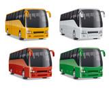 new modern comfortable city buses