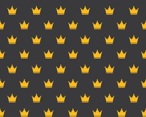 Seamless Golden Crown Pattern