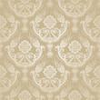 Seamless golden floral damask wallpaper.