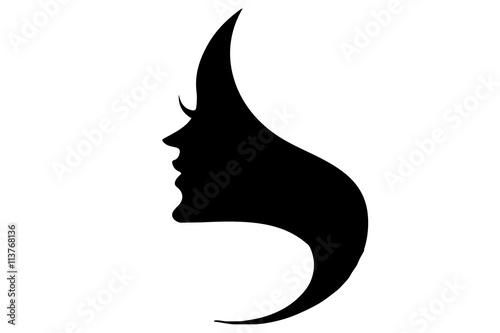 Volto Donna Stilizzato Maschera Silhouette Profilo Buy Photos Ap