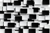 Optical illusion black and whiteseamless modern design.