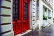 Typical Paris street view, summer day.