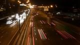 night highway time lapse