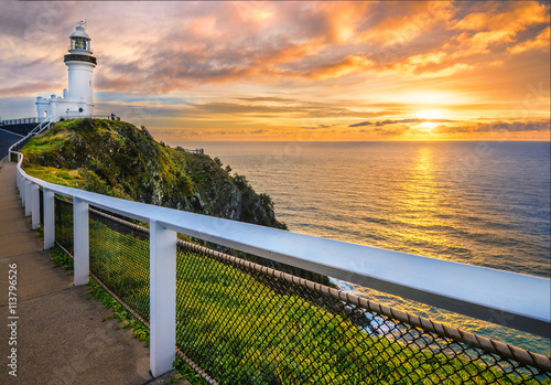 obraz lub plakat Sunrise at Cape Byron. Horizontal Frame.