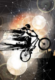 Fototapeta Fototapety dla młodzieży - Extreme sport, bmx rider © zeber