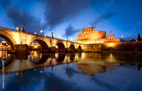 Foto op Canvas Praag Rome by night Italy