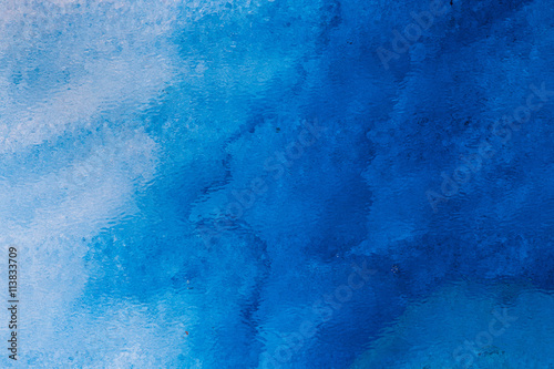 Fototapeta Blue watercolor background for backgrounds or textures