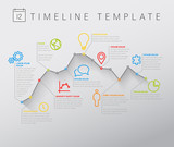 Vector light Infographic timeline with graph