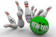 New Tech Vs Beats Old Technology Bowling Ball Strike 3d Illustra