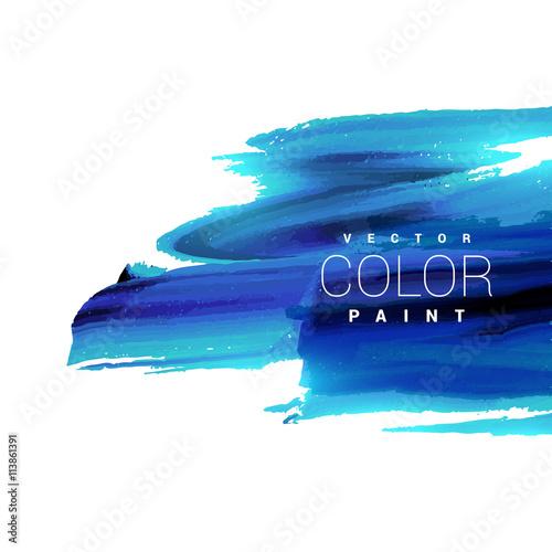 jasny niebieski atrament plama farby wektor