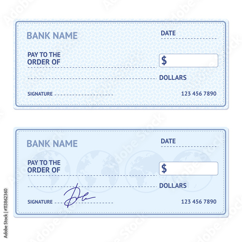bank check template set vector buy photos ap images detailview